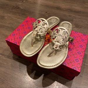 Tory Burch Miller Sandals Gold 8.5